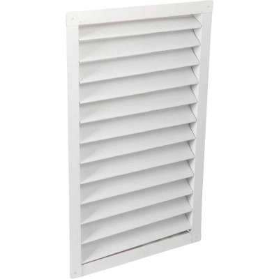 "Air Vent 14"" x 24"" Rectangular White Gable Attic Vent"