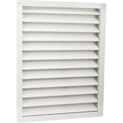 "Air Vent 18"" x 24"" Rectangular White Gable Attic Vent"
