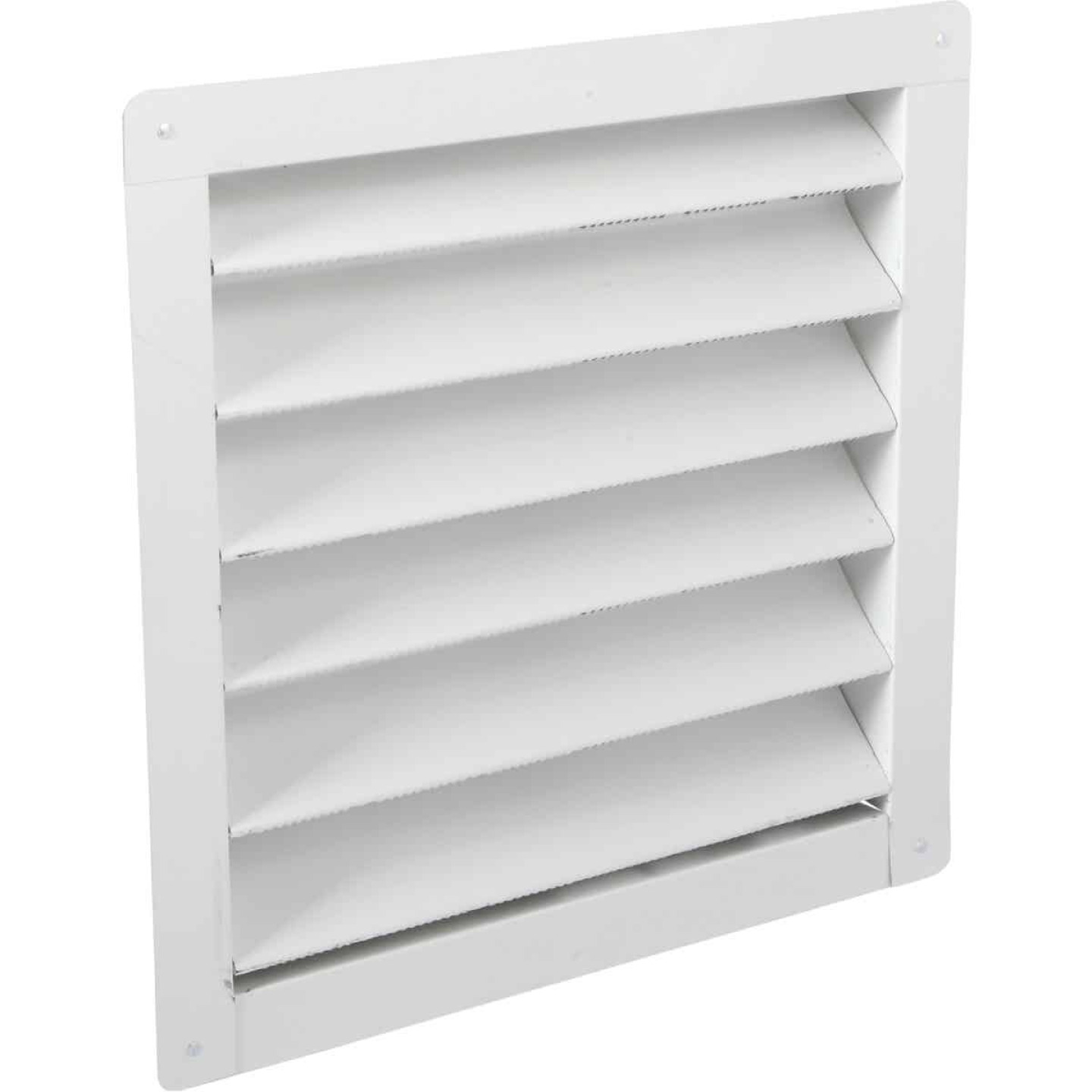 "Air Vent 12"" x 12"" Square White Gable Attic Vent Image 1"