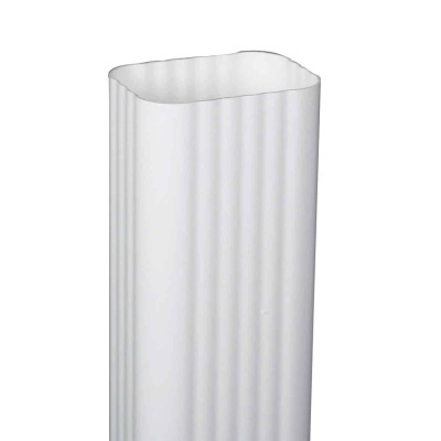 Amerimax 2 In. x 3 In. x 10 Ft. Traditional K-Style White Vinyl Downspout