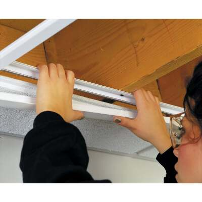 CeilingMax 8 Ft. x 15/16 In. White PVC Runner