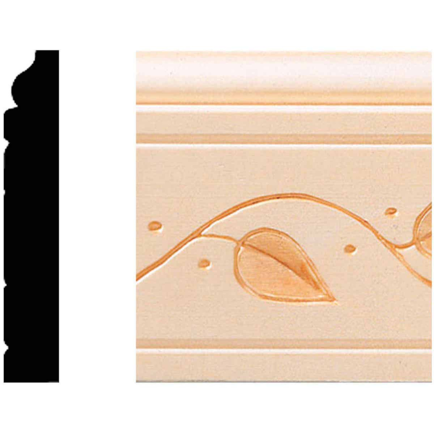 House of Fara 29/64 In. W. x 3 In. H. x 8 Ft. L. Decorative Vine Base Molding Image 1
