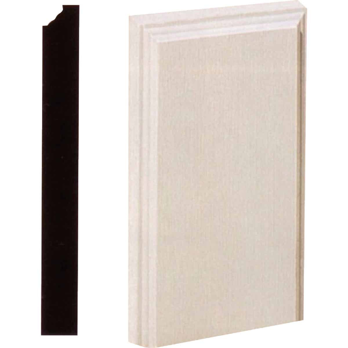 House of Fara 1-1/8 In. W. x 4-1/2 In. H. x 8 In. L. White MDF Plinth Block Image 1