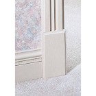 House of Fara 1-1/8 In. W. x 4-1/2 In. H. x 8 In. L. White MDF Plinth Block Image 2