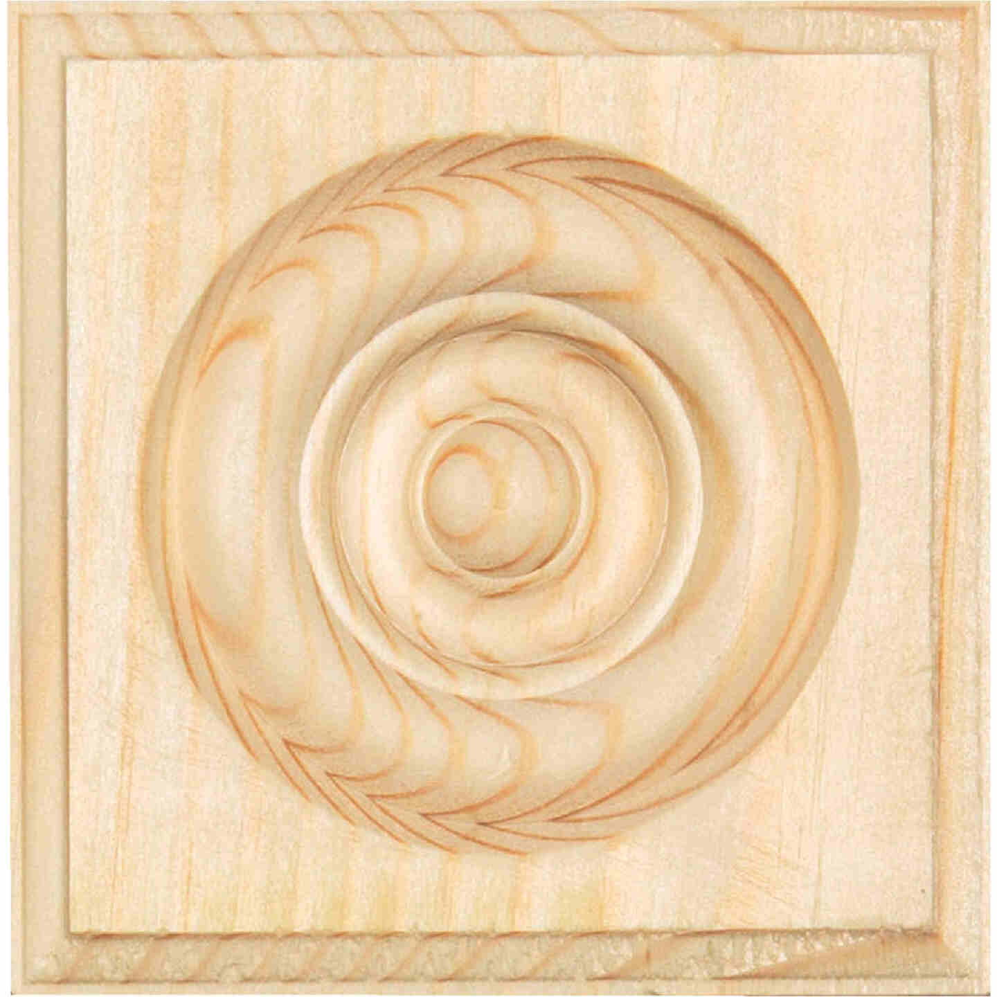 House of Fara 7/8 In. x 3-1/2 In. Unfinished Pine Rosette Image 2