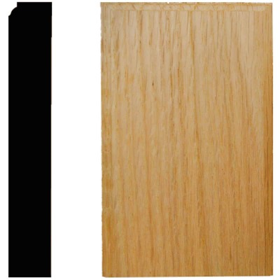 House of Fara 7/8 In. W. x 3-1/2 In. H. x 6 In. L. Oak Plinth Block
