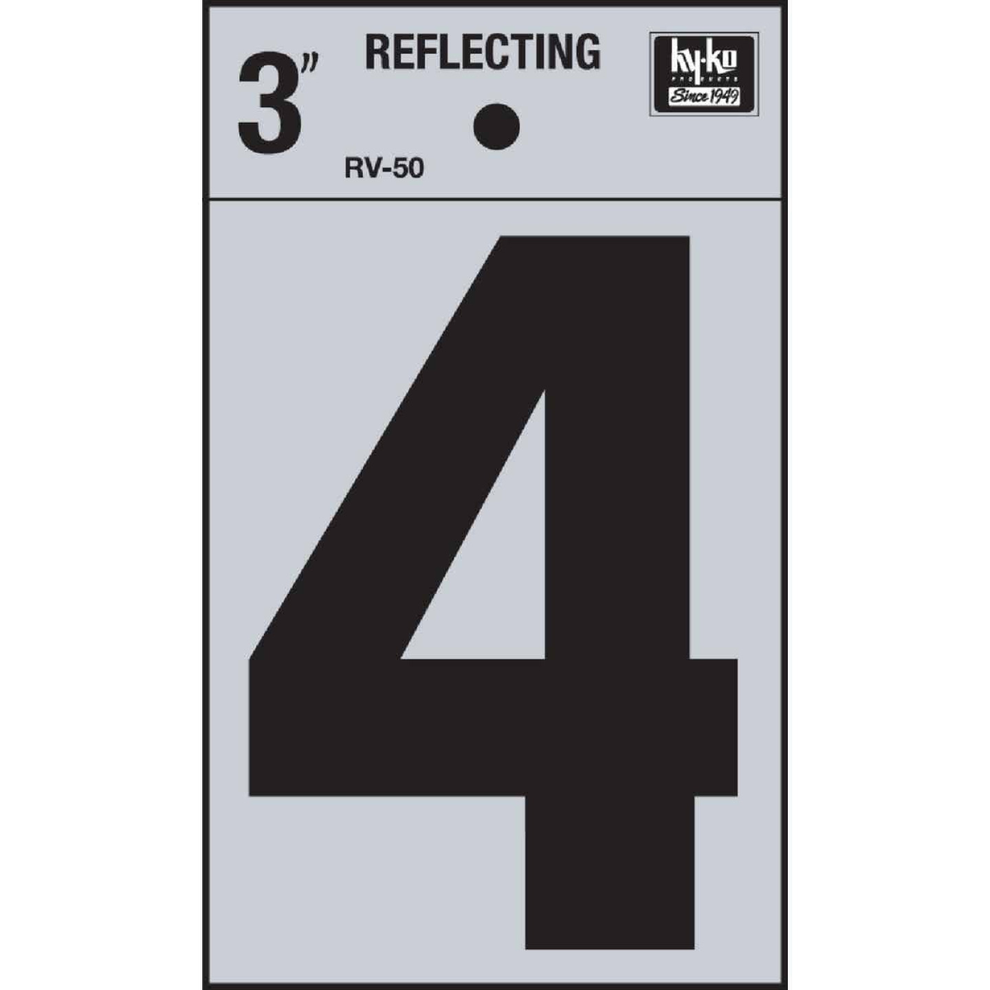 Hy-Ko Vinyl 3 In. Reflective Adhesive Number Four Image 1