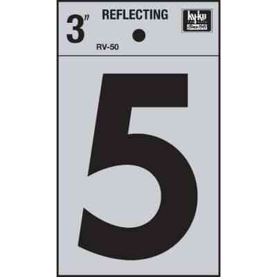 Hy-Ko Vinyl 3 In. Reflective Adhesive Number Five