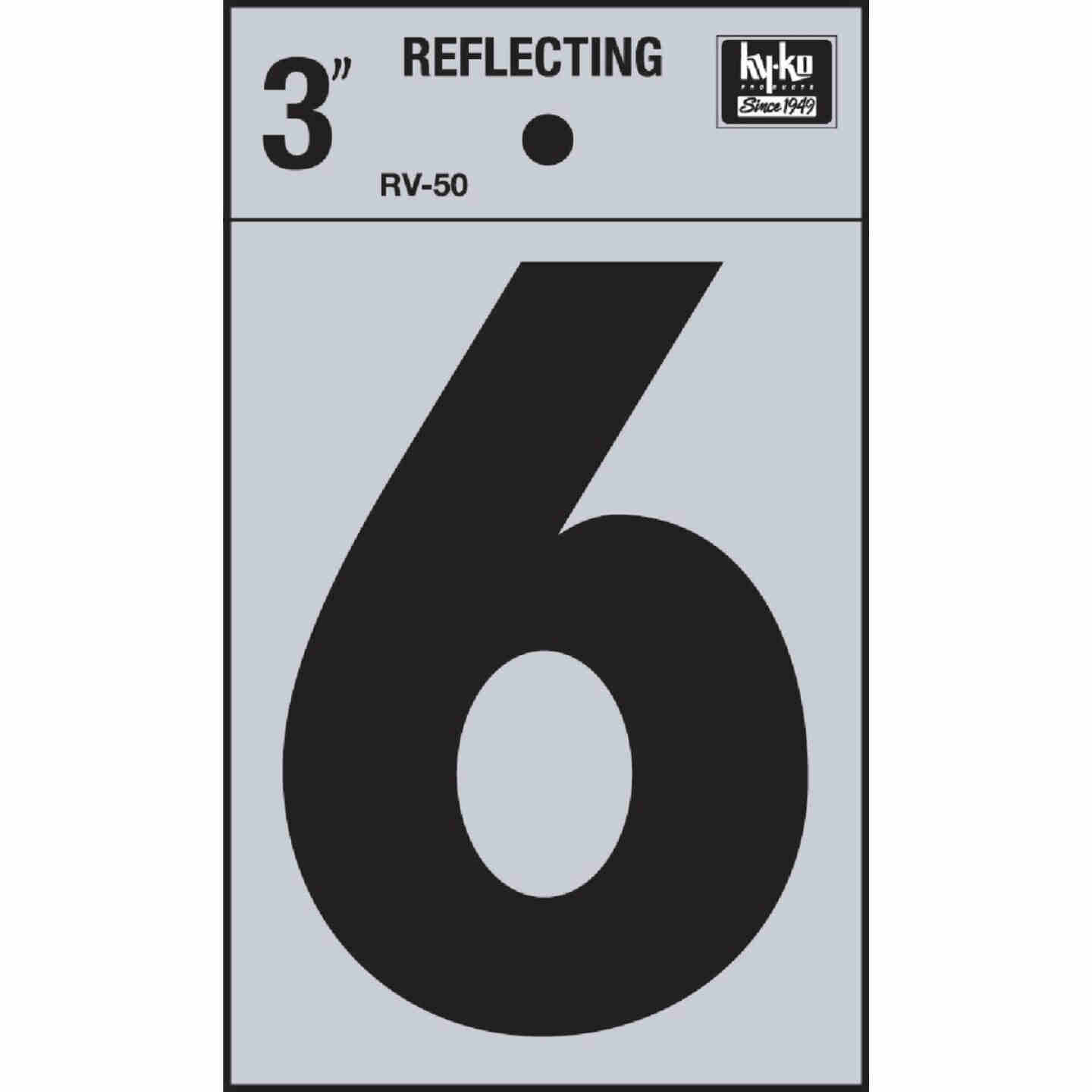 Hy-Ko Vinyl 3 In. Reflective Adhesive Number Six Image 1