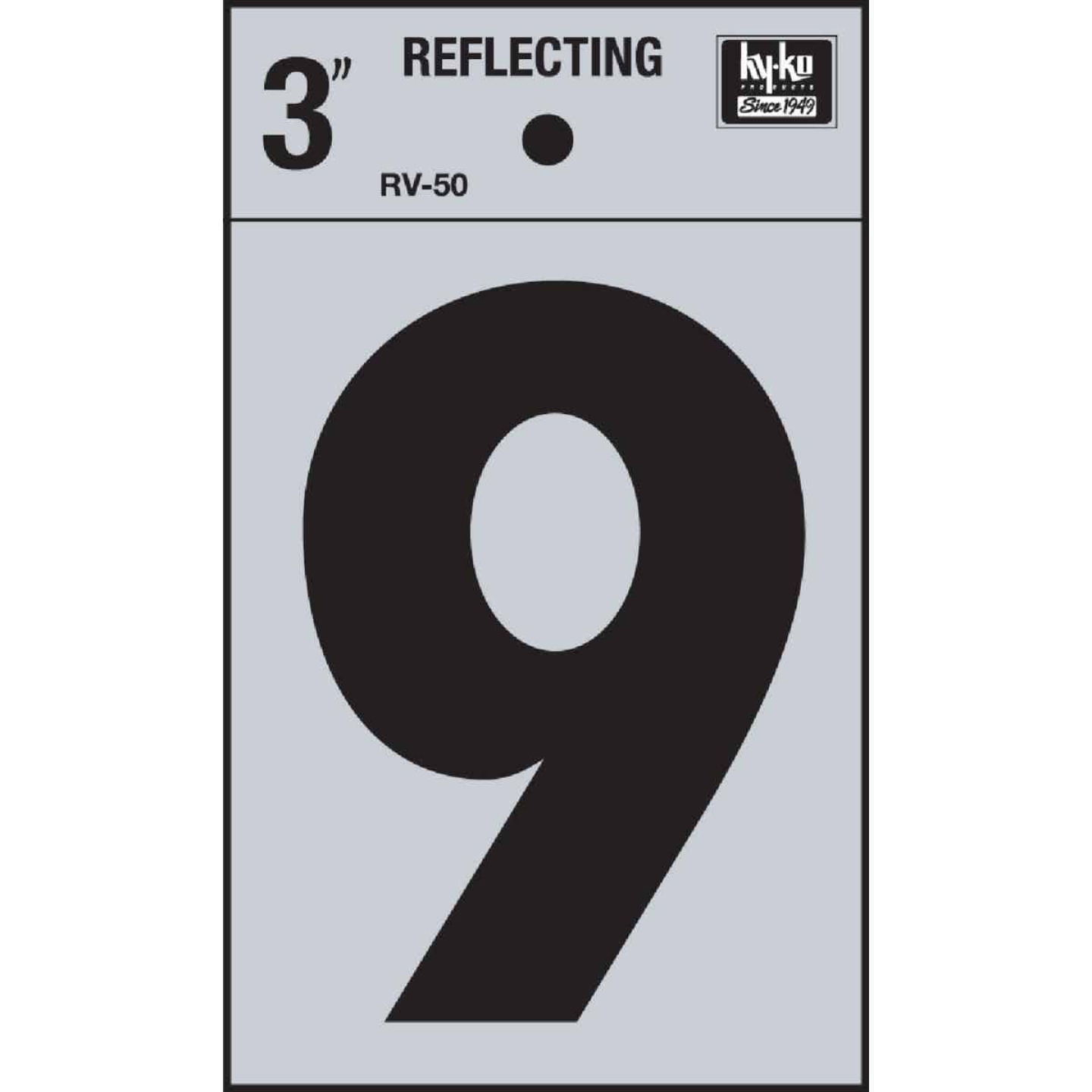 Hy-Ko Vinyl 3 In. Reflective Adhesive Number Nine Image 1