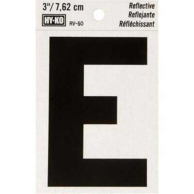 Hy-Ko Vinyl 3 In. Reflective Adhesive Letter, E