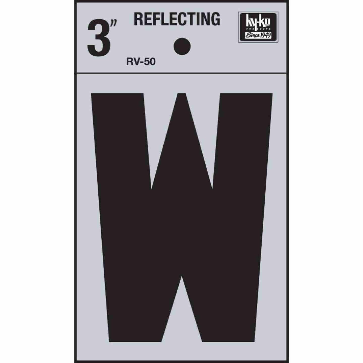 Hy-Ko Vinyl 3 In. Reflective Adhesive Letter, W Image 1