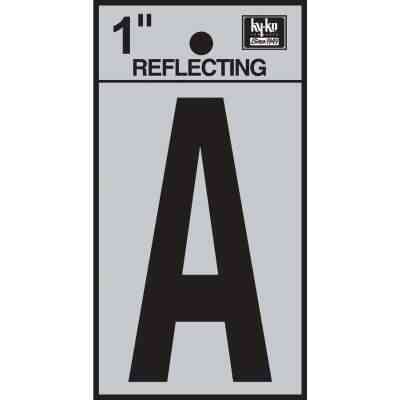 Hy-Ko Vinyl 1 In. Reflective Adhesive Letter, A