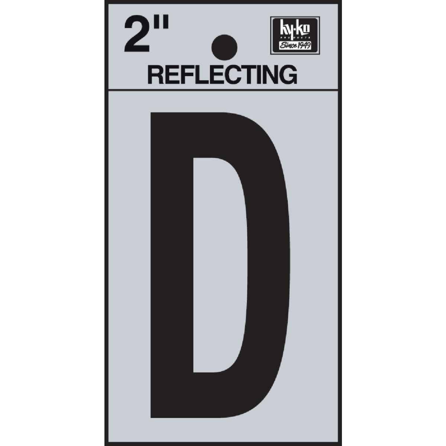 Hy-Ko Vinyl 2 In. Reflective Adhesive Letter, D Image 1