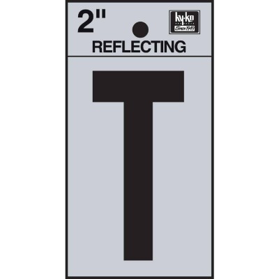 Hy-Ko Vinyl 2 In. Reflective Adhesive Letter, T
