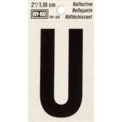 Hy-Ko Vinyl 2 In. Reflective Adhesive Letter, U