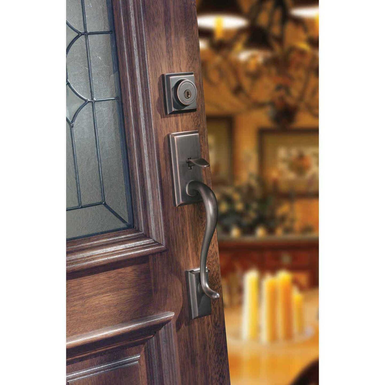 Kwikset Signature Series Hawthorne Venetian Bronze Entry Door Handleset with Smartkey Image 5