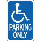 Hy-Ko Heavy-Duty Aluminum Sign, Handicap Parking Only Image 1
