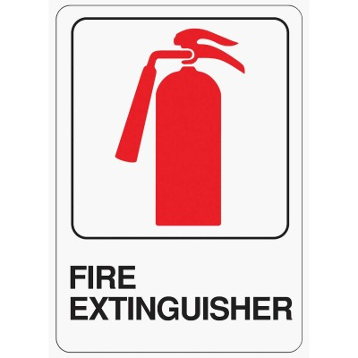Hy-Ko Deco Series Heavy-Duty Plastic Sign, Fire Extinguisher