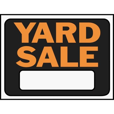 Hy-Ko Plastic Sign, Yard Sale