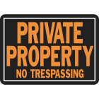 Hy-Ko Aluminum Sign, Private Property No Trespassing Image 1