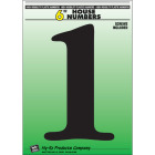 Hy-Ko 6 In. Black Gloss House Number One Image 1