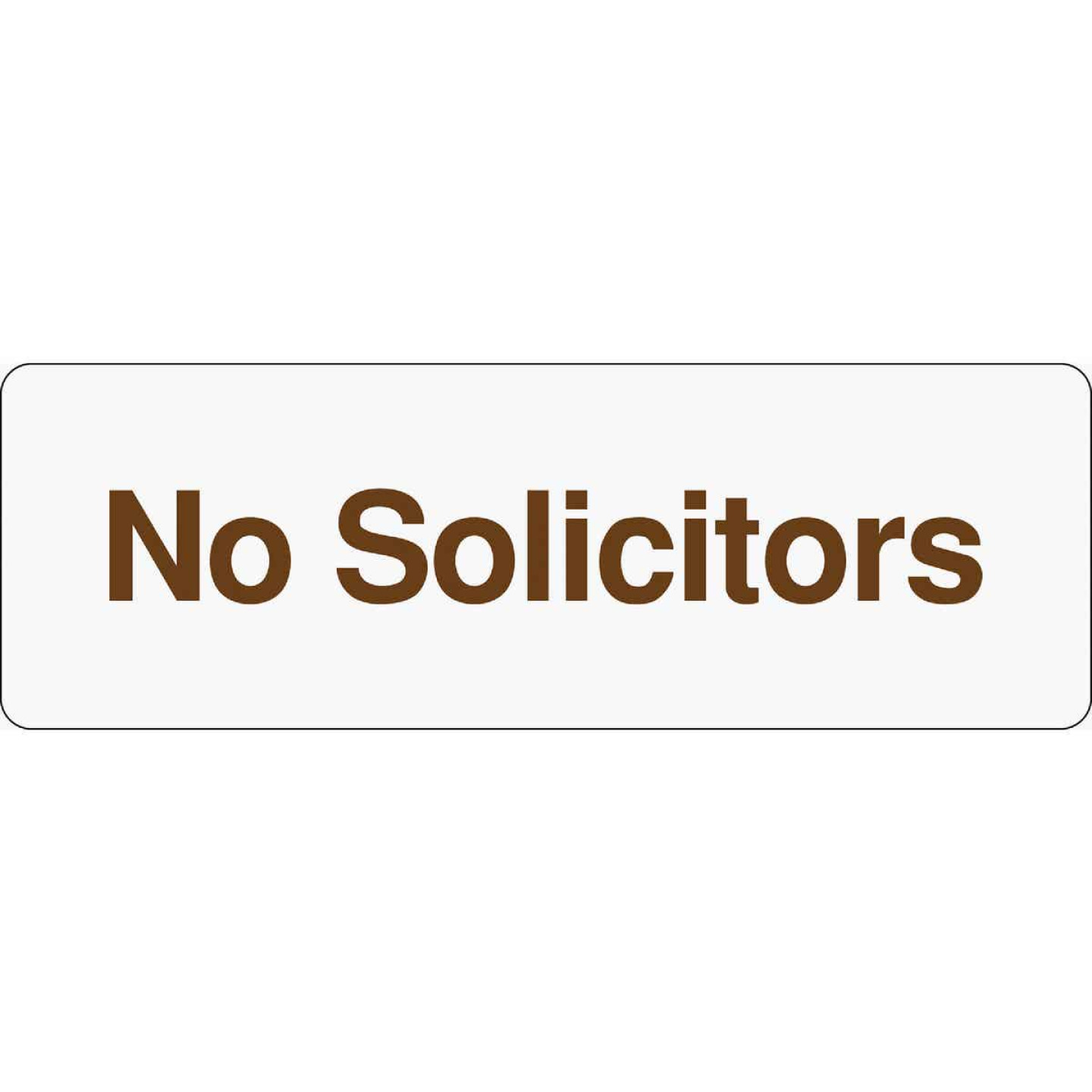 Hy-Ko Deco Series Plastic Sign, No Solicitors Image 1