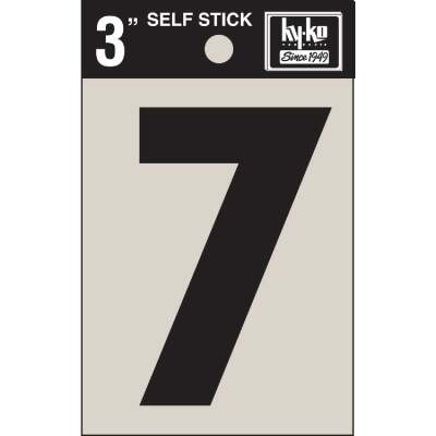 Hy-Ko Vinyl 3 In. Non-Reflective Adhesive Number Seven