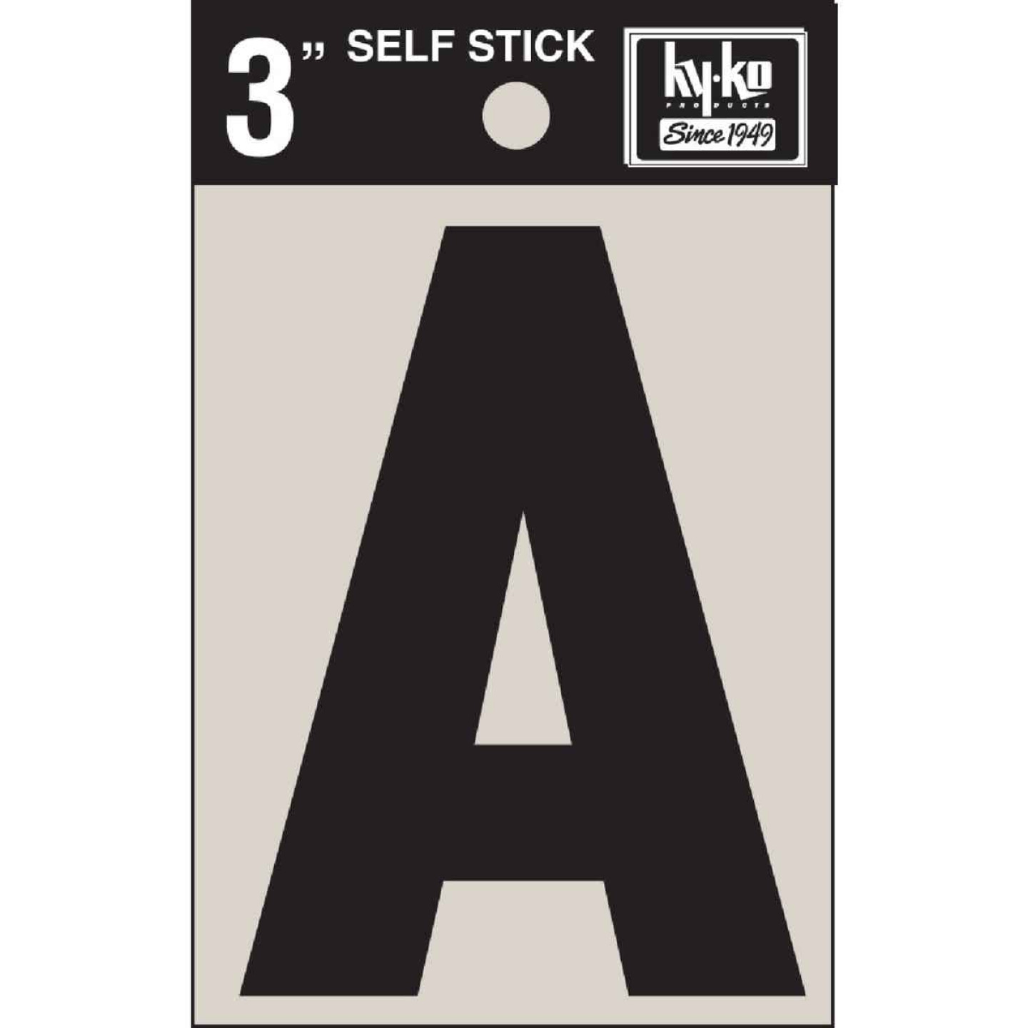 Hy-Ko Vinyl 3 In. Non-Reflective Adhesive Letter, A Image 1
