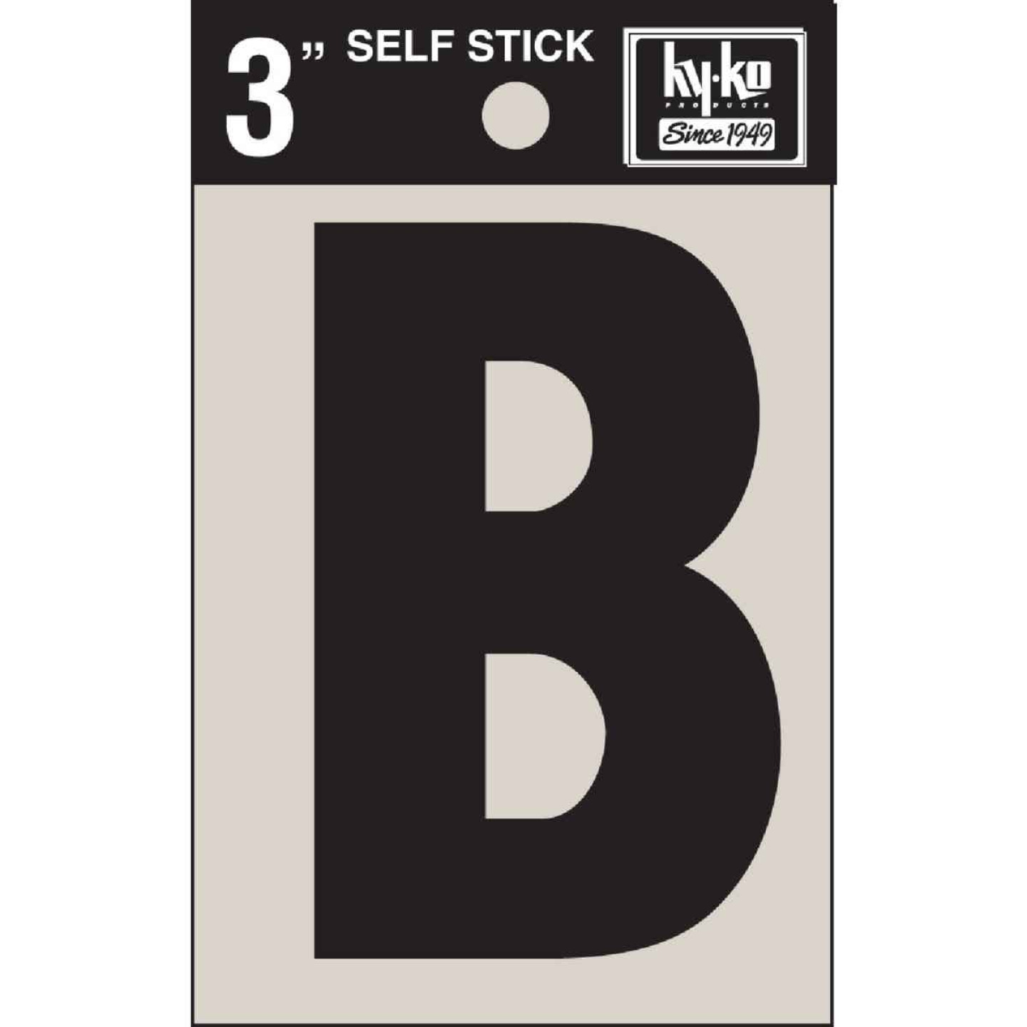 Hy-Ko Vinyl 3 In. Non-Reflective Adhesive Letter, B Image 1
