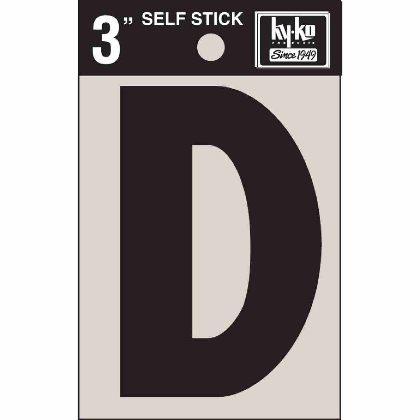 Hy-Ko Vinyl 3 In. Non-Reflective Adhesive Letter, D Image 1