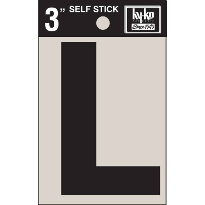 Hy-Ko Vinyl 3 In. Non-Reflective Adhesive Letter, L