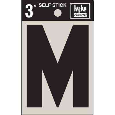 Hy-Ko Vinyl 3 In. Non-Reflective Adhesive Letter, M
