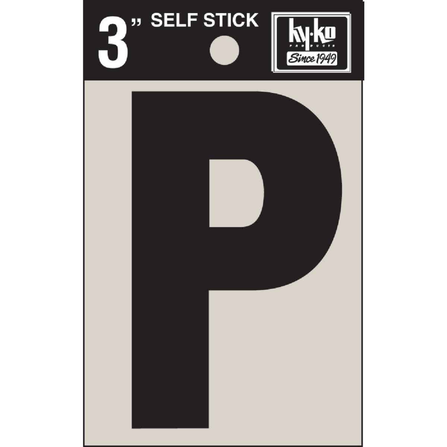 Hy-Ko Vinyl 3 In. Non-Reflective Adhesive Letter, P Image 1