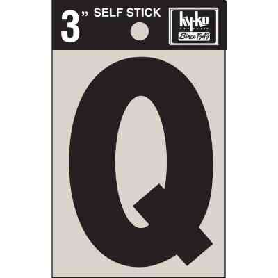 Hy-Ko Vinyl 3 In. Non-Reflective Adhesive Letter, Q