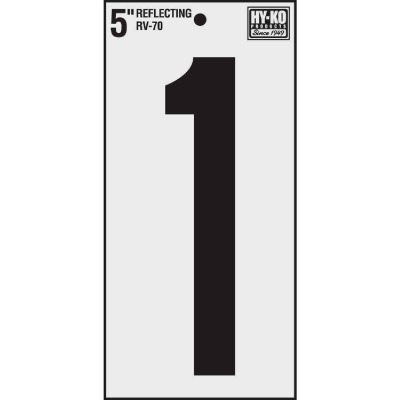Hy-Ko Vinyl 5 In. Reflective Adhesive Number One