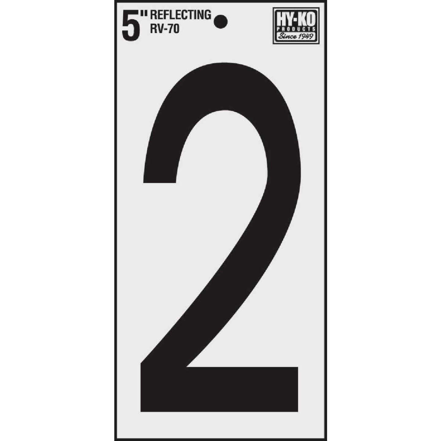 Hy-Ko Vinyl 5 In. Reflective Adhesive Number Two Image 1