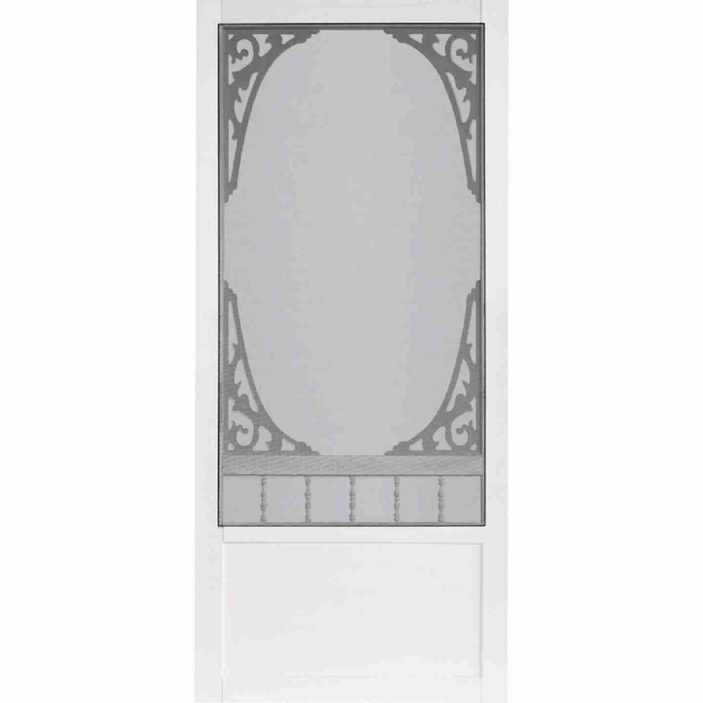 Screen Tight Springview 32 In. W x 80 In. H x 1 In. Thick White Vinyl Screen Door Image 2