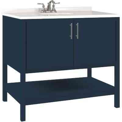 Bertch Essence 36 In. W x 34-1/2 In. H x 21 In. D Cobalt Furniture Style Vanity Base, 2 Door