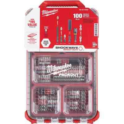 Milwaukee Shockwave PACKOUT Impact Screwdriver Bit Set (100-Piece)