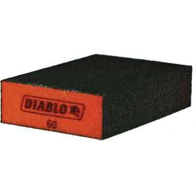 Diablo 2-1/2 In. x 4 In. x 1 In. 60 Grit (Medium) Flat Edge Sanding Sponge (3-Pack)