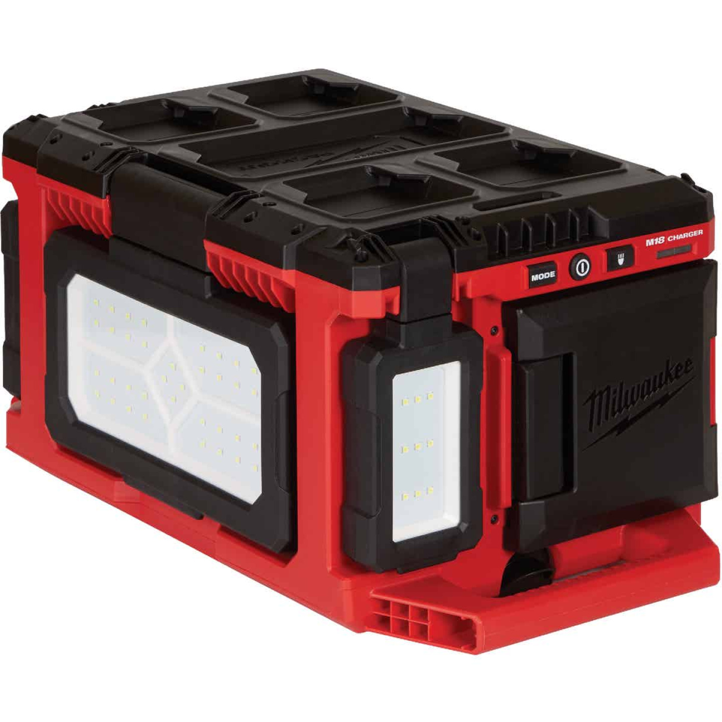 Milwaukee M18 18 Volt Lithium-Ion PACKOUT Corded/Cordless Work Light/Charger Image 1