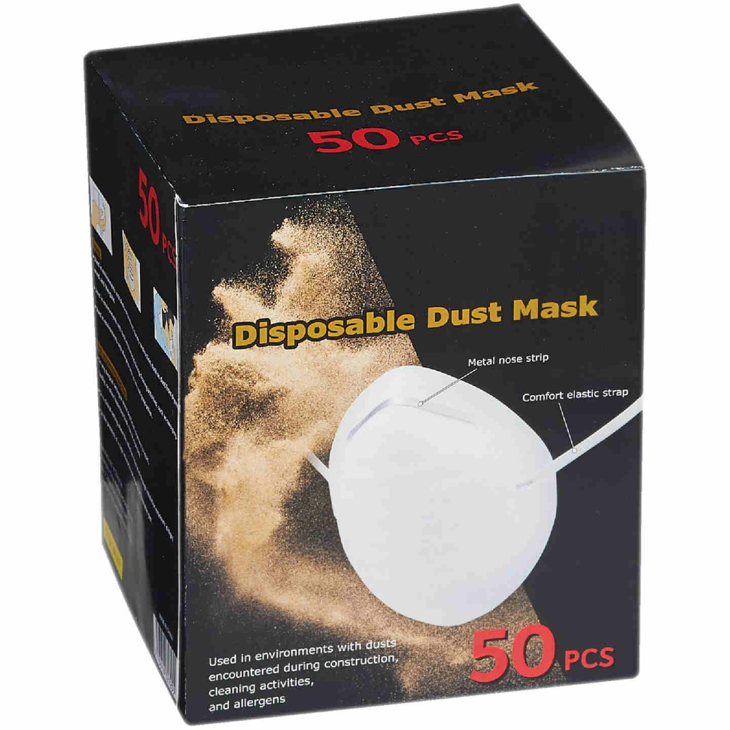 Disposable Dust & Face Mask (50-Pack) Image 1