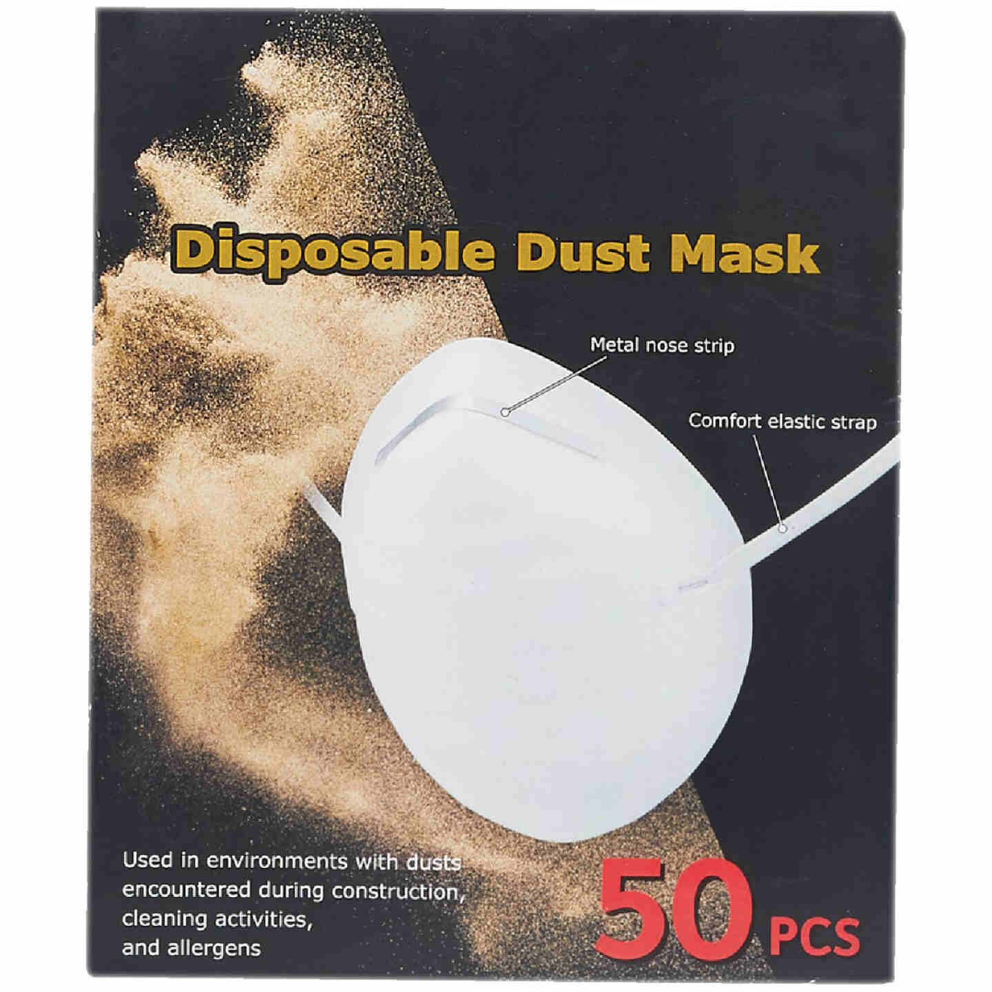 Disposable Dust & Face Mask (50-Pack) Image 2