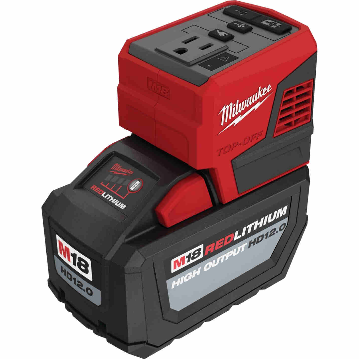 Milwaukee M18 18 Volt Lithium-Ion TOP-OFF 175W Power Source Image 1