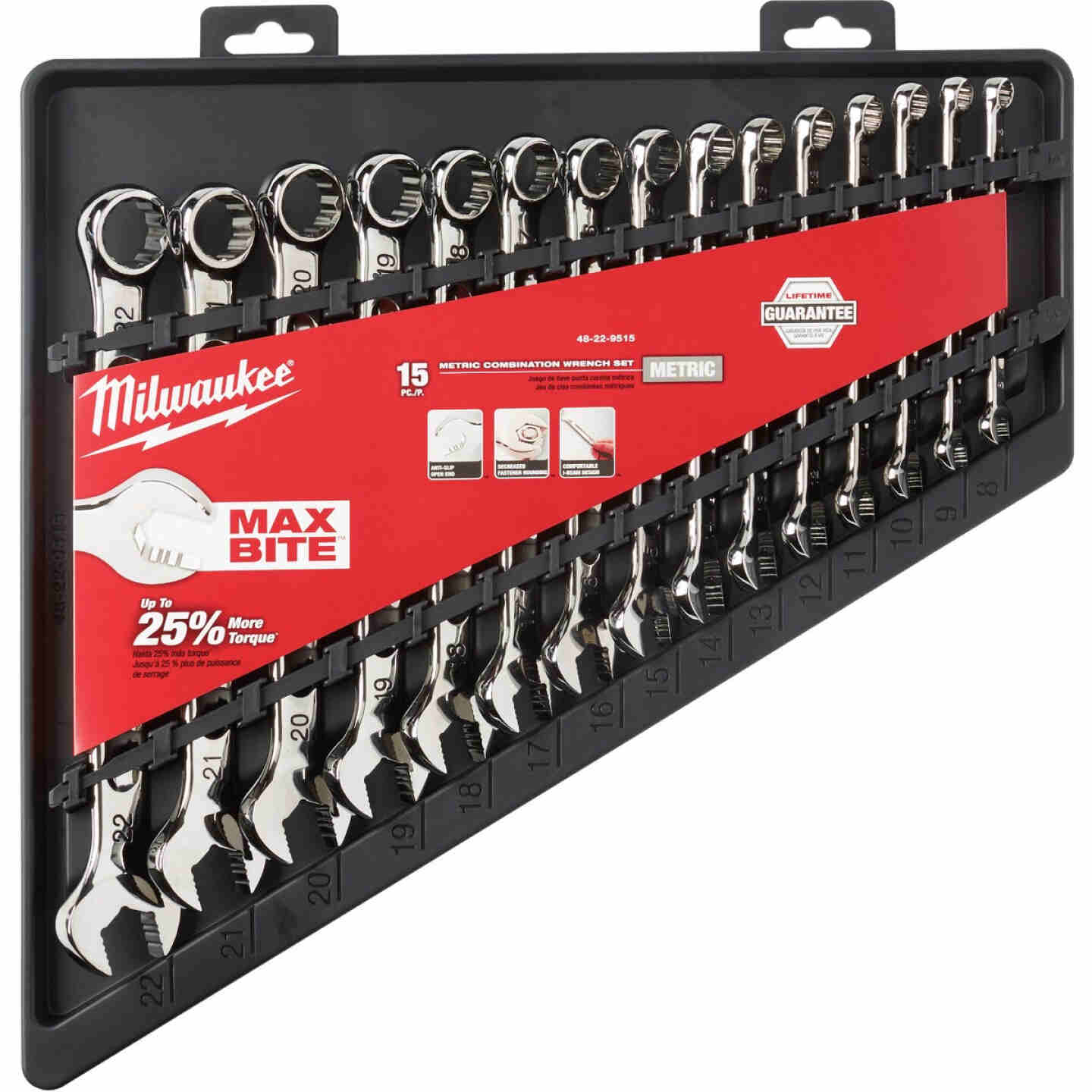 Milwaukee Metric 12-Point Combination Wrench Set (15-Piece) Image 2