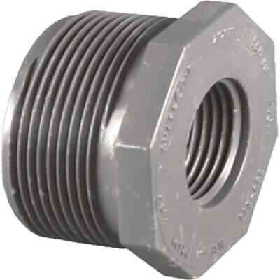 Charlotte Pipe 3/4 In. MPT x 1/2 In. FPT Schedule 80 Reducing PVC Bushing