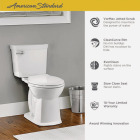 American Standard Astute VorMax Right Height White Elongated Bowl 1.28 GPF Complete Toilet Image 3