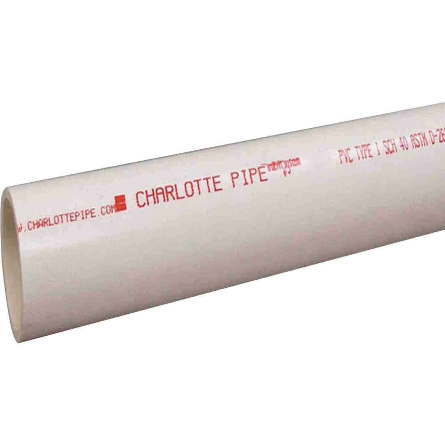 Charlotte Pipe 6 In. x 20 Ft. PVC DWV/Pressure Dual Rated Schedule 40 Pipe Image 1