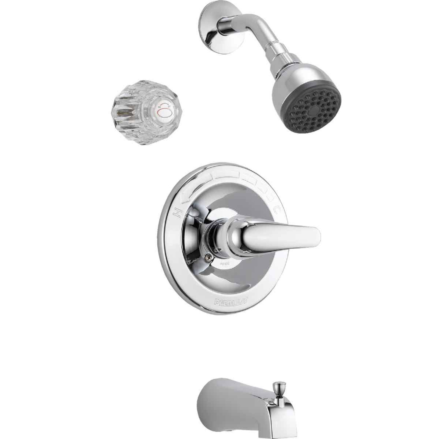 Peerless Chrome 1-Handle Lever Tub and Shower Faucet Image 1